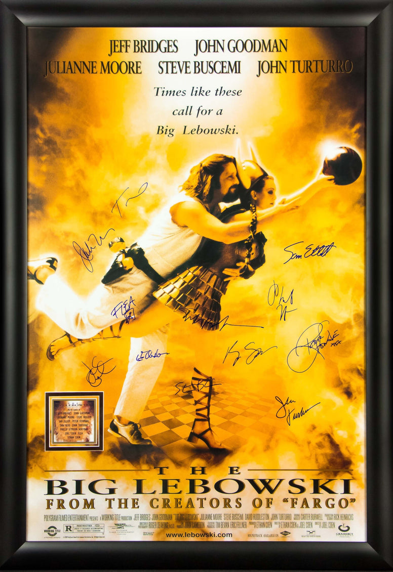 The Big Lebowski - Signed Movie Poster