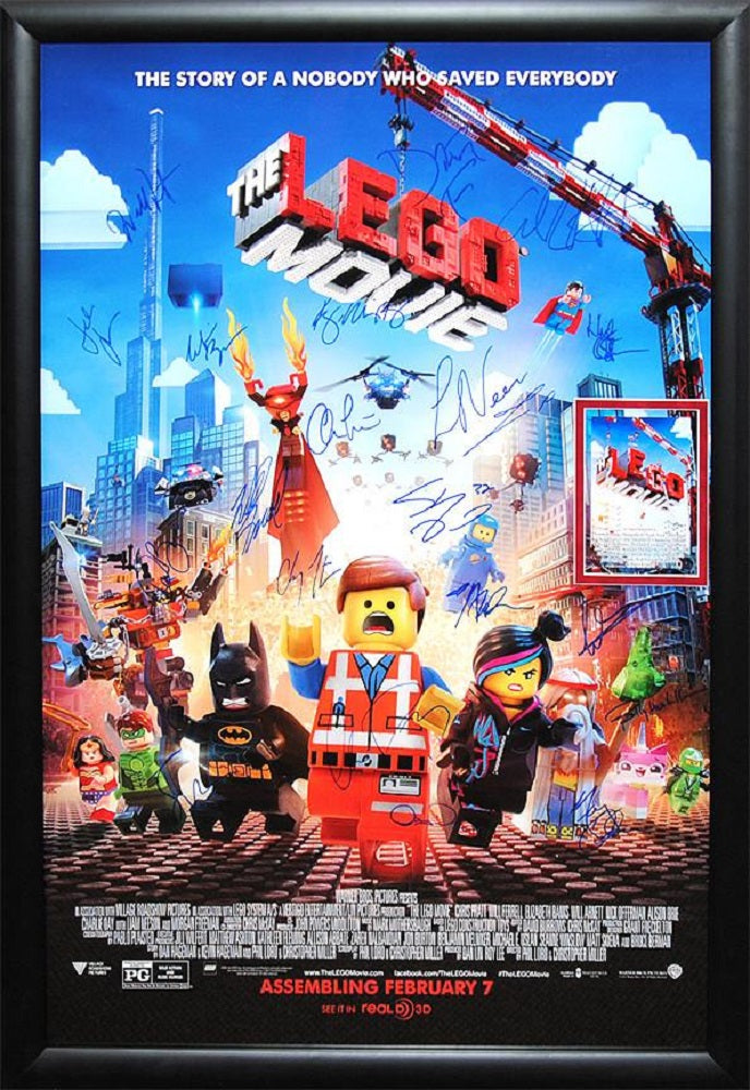 The Lego Movie Signed Movie Poster Front Row Memorabilia