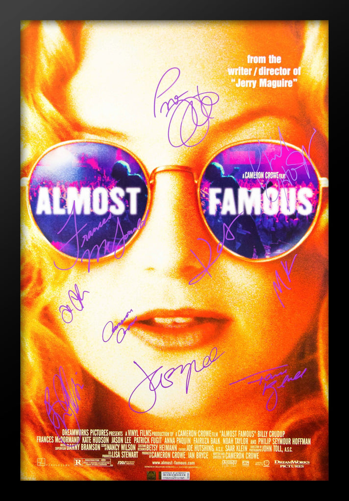 Almost Famous Signed Movie Poster in Wood Frame with COA