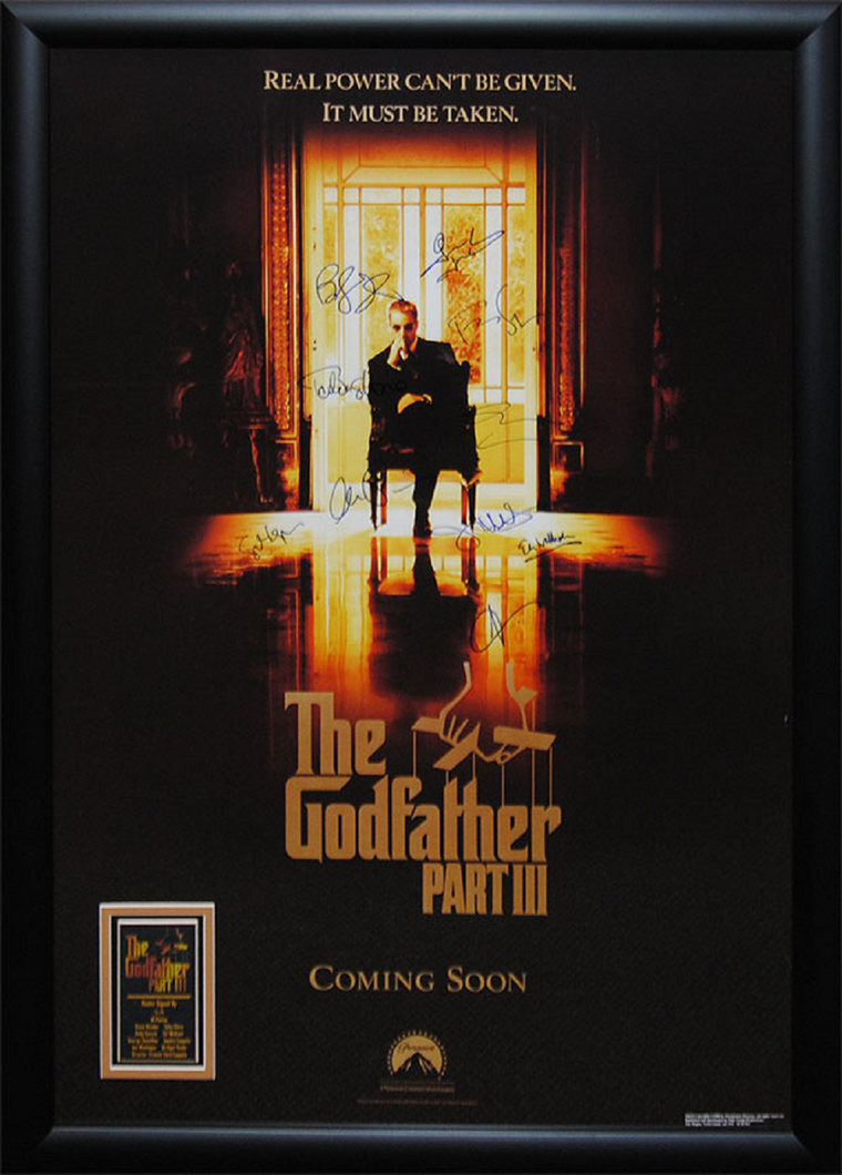 Godfather lll - Signed Movie Poster in Wood Frame with COA