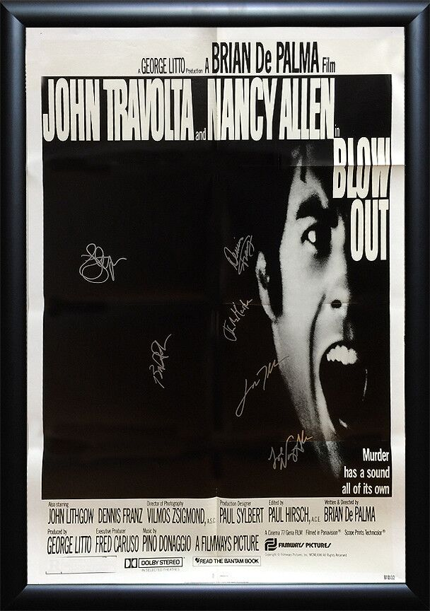 Blow Out -  Signed Movie Poster
