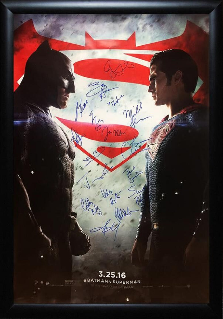 Batman vs Superman -  Signed Movie Poster