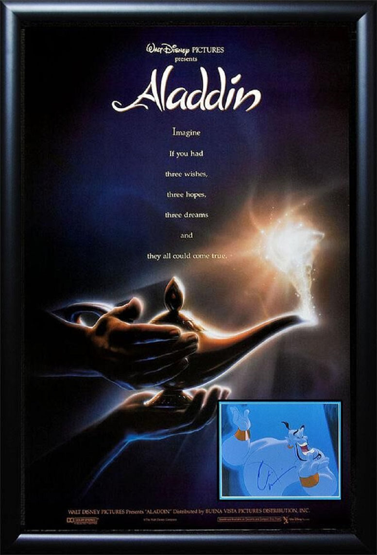 Aladdin - Signed Photo in Movie Poster