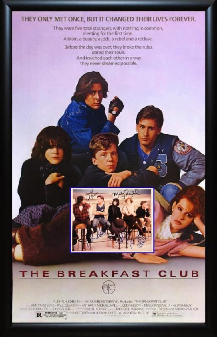 The Breakfast Club - Signed Movie Poster