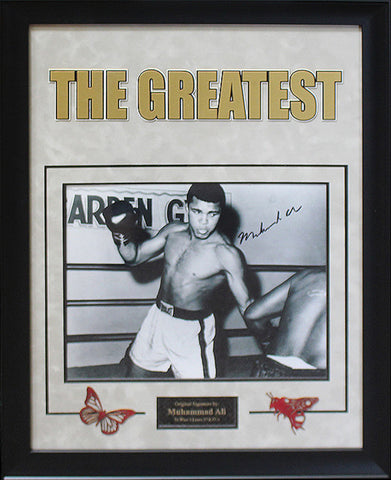 Muhammad Ali Signed Photo - Framed Artist Series