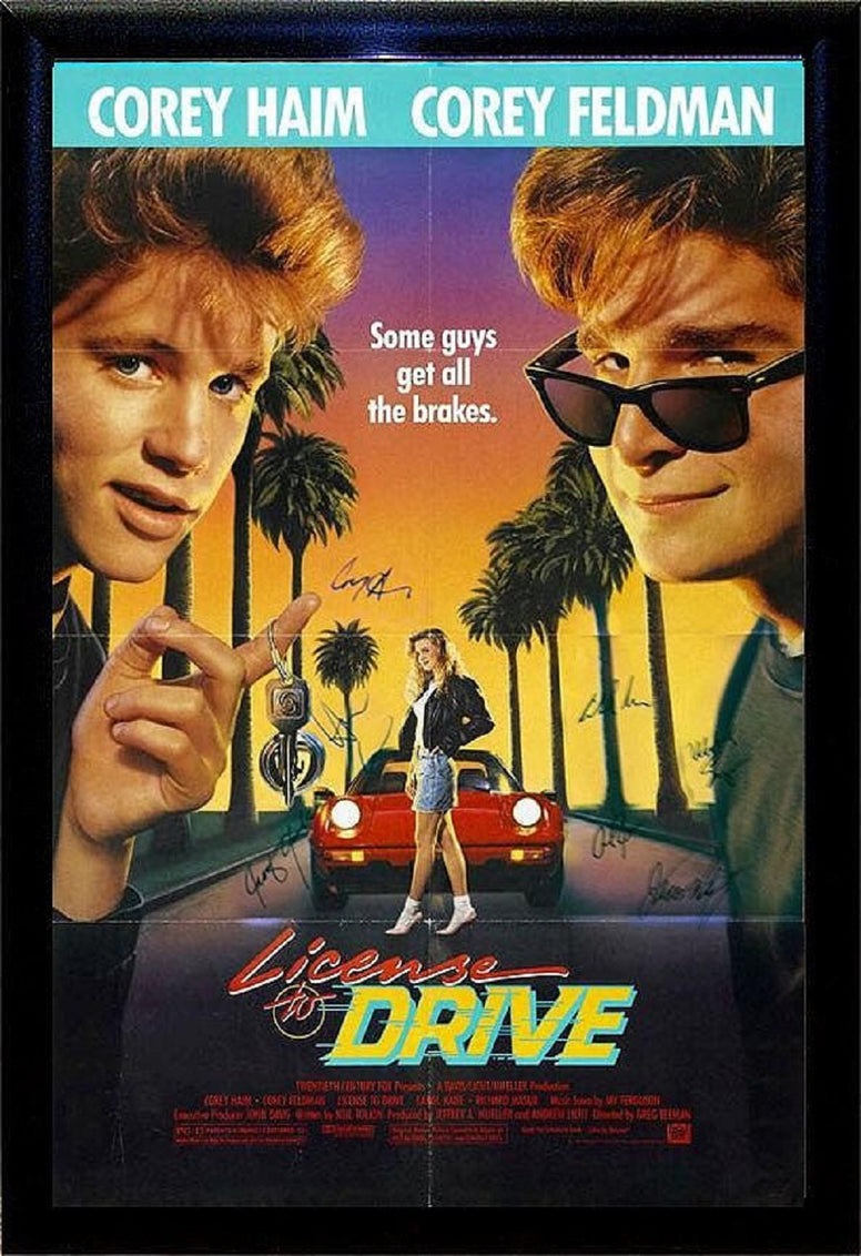 License To Drive  - Signed Movie Poster