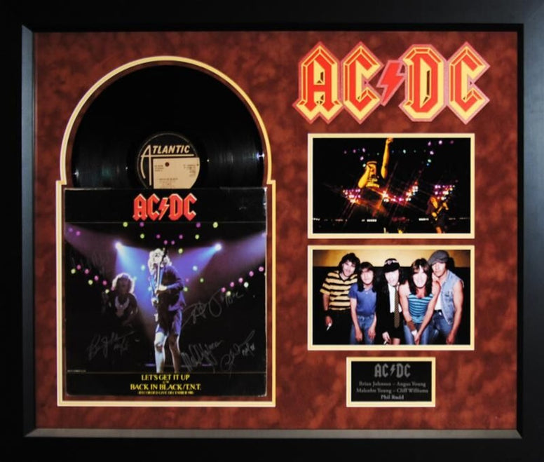 AC/DC - Let's Get It Up / Back In Black - Signed Album