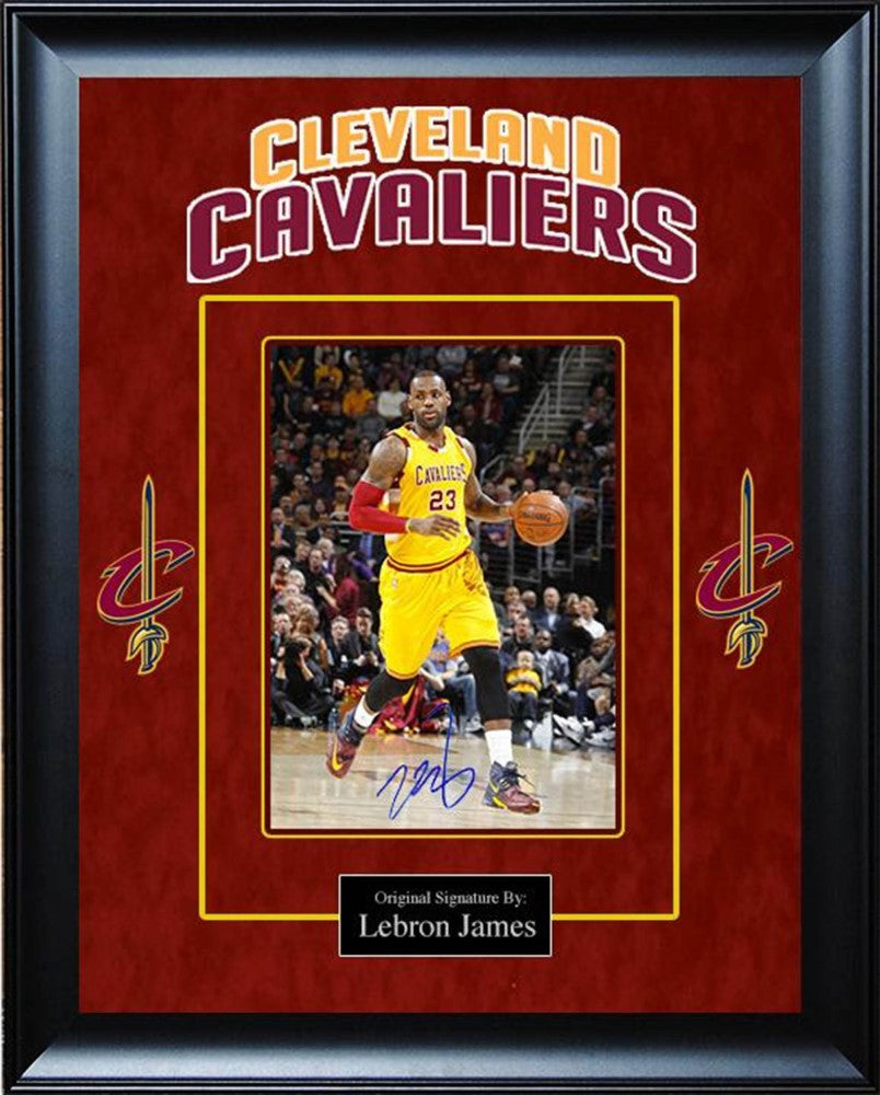 f3586474822 Lebron James NBA Cleveland Cavaliers Signed Photo Collage – Front ...