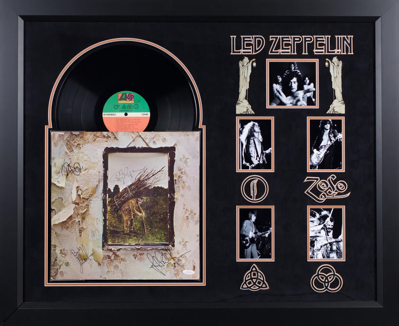 Led Zeppelin IV - Album LP Signed by 4 Members