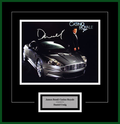 James Bond Casino Royale - Signed by Daniel Craig - Framed Artist Series