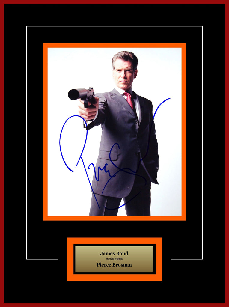James Bond - Signed by Pierce Brosnan - Framed Artist Series