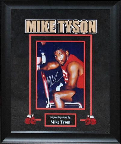 Mike Tyson Signed Photo - Framed Artist Series
