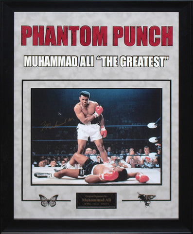 Muhammad Ali Signed Photo Phantom Punch - Framed Artist Series