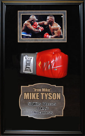 Mike Tyson Signed Boxing Glove Framed Collage