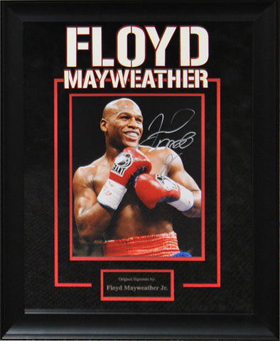 Floyd Mayweather Jr. Signed Photo - Framed Artist Series