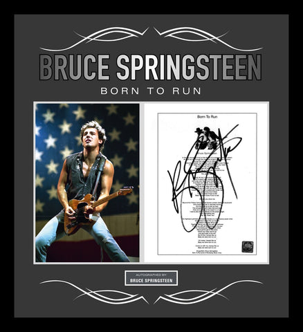 Bruce Springsteen - Signed Music Lyrics in Photo Collage Frame