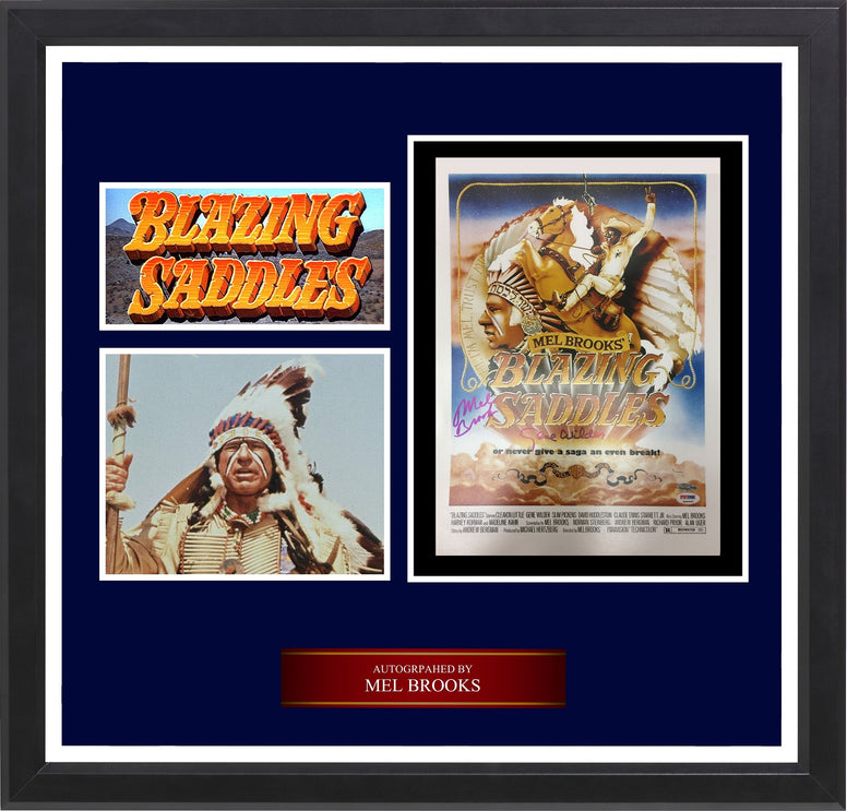 Blazing Saddles - Mel Brooks Signed Photo Collage in Framed Case