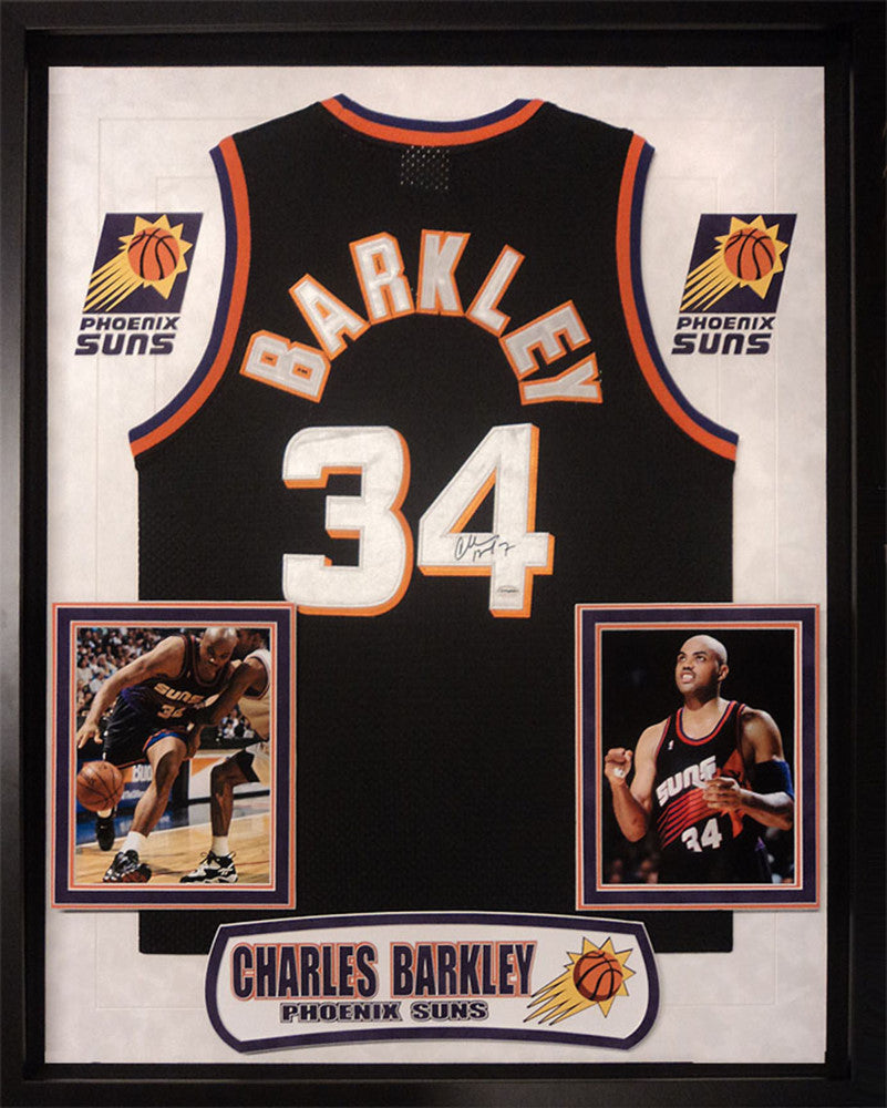 efd833d09 Charles Barkley - Signed Phoenix Suns NBA Basketball Jersey – Front ...