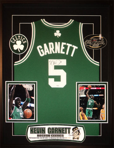 Kevin Garnett - Signed Boston Celtics NBA Basketball Jersey