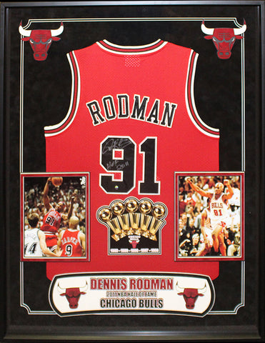 Dennis Rodman - Signed Chicago Bulls NBA Basketball Jersey