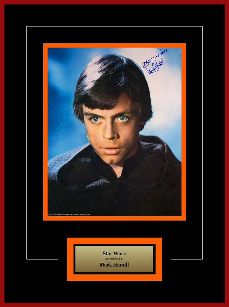 Star Wars - Signed Mark Hamill Luke Skywalker Movie Photo - Framed Artist Series