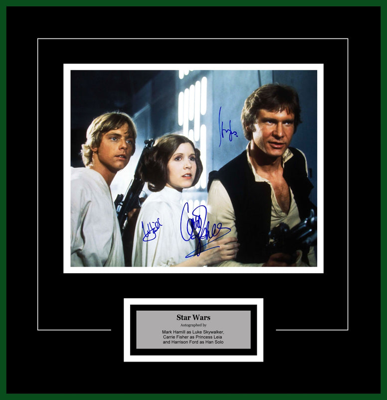 Star Wars - Cast Signed Movie Photo - Framed Artist Series
