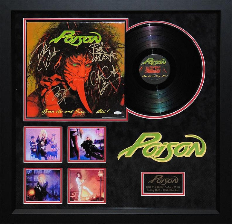 Poison - Open Up and Say... Ahh! - Signed Album