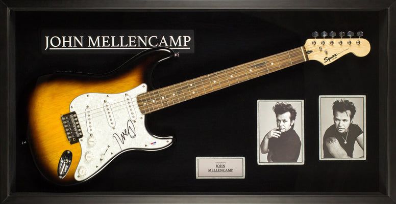 John Mellencamp Signed Guitar - Custom Framed - PSA/DNA COA
