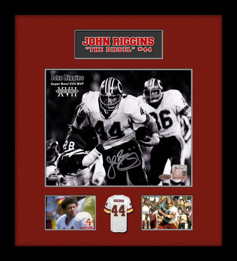 "John ""The Diesel"" Riggins Signed Picture Collage in Custom Frame w/ Steiner COA"