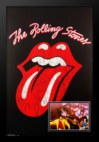 Rolling Stones Signed Photo in Poster