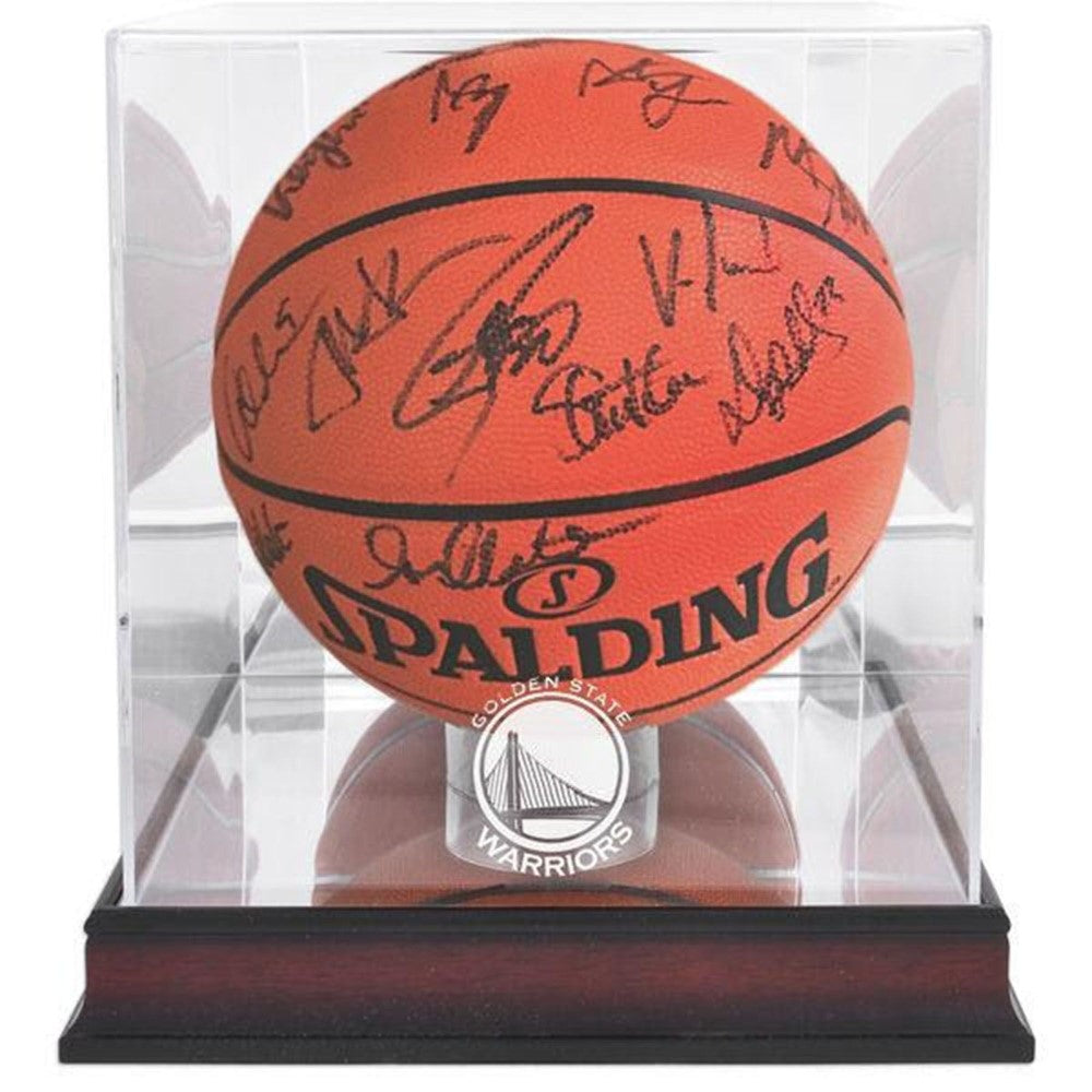 ebc796f1534b Kevin Durant Signed Basketball in NBA Golden State Warriors Display Case