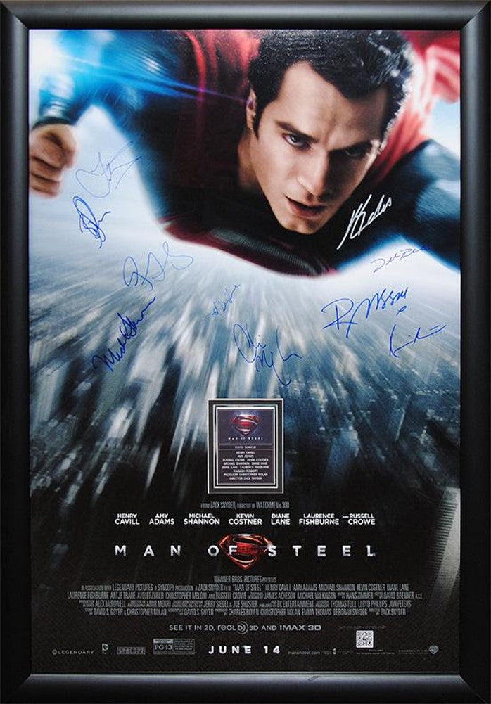 Superman Man of Steel - Signed Movie Poster