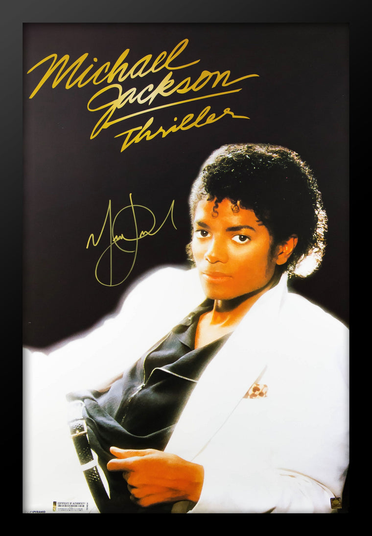 Michael Jackson - Thriller - Signed Poster Framed