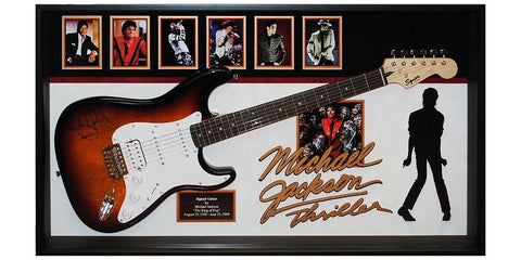 Michael Jackson Thriller Signed Guitar Custom Framed