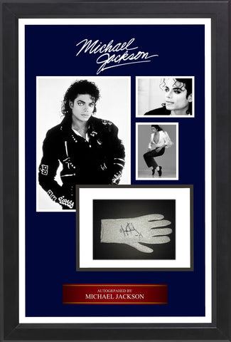 Michael Jackson - Signed Glove in Custom Framed Case