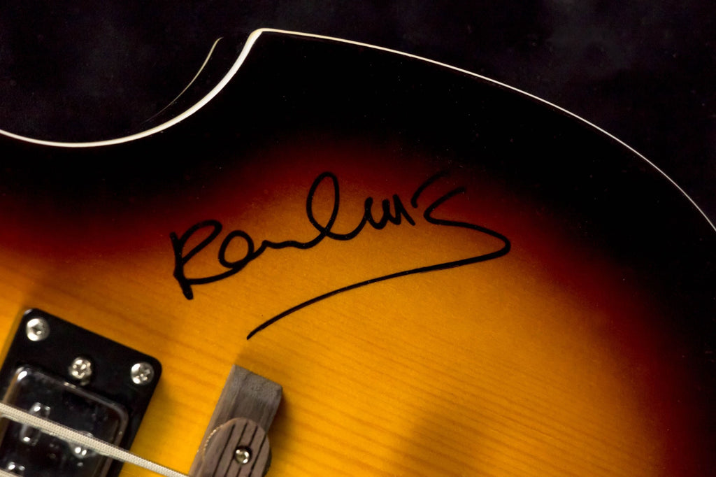 Paul McCartney - Autographed Electric Guitar Signed in Framed Case COA
