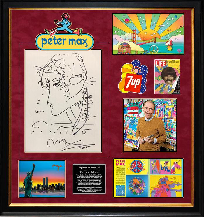 Peter Max Signed, Hand-Drawn Sketch! - LuxeWest
