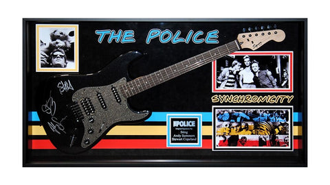 The Police Signed Guitar Synchronicity Custom Framed