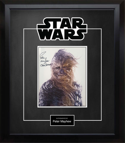 Star Wars' Chewbacca (Peter Mayhew) Signed Photo - Custom Framed