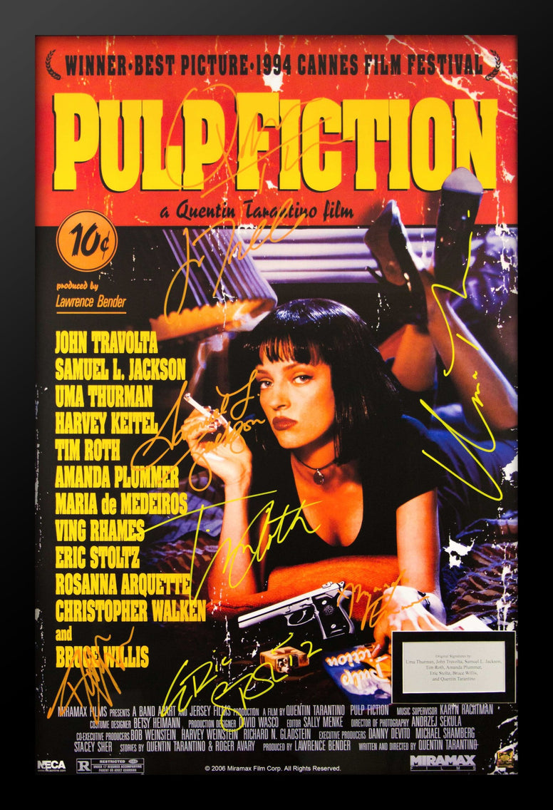 Pulp Fiction - Signed Movie Poster