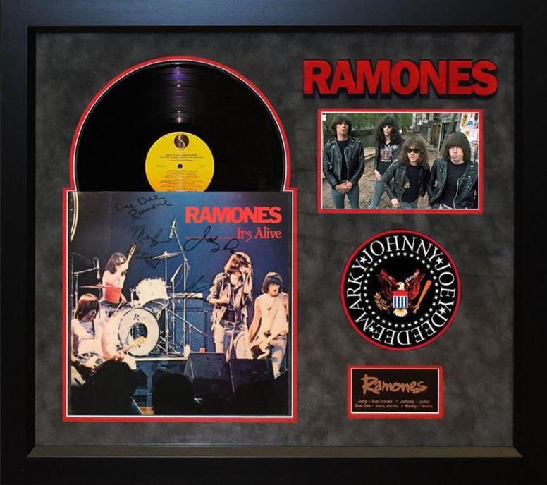 The Ramones Original Band Signed It's Alive LP - LuxeWest