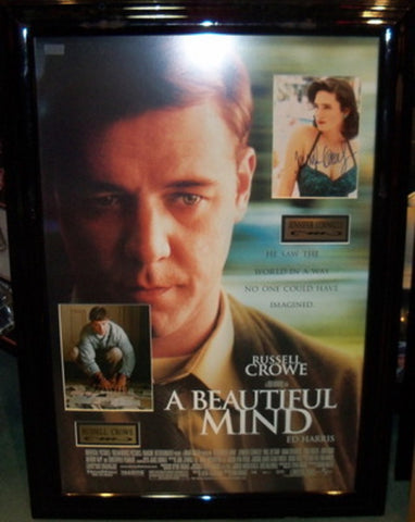 A Beautiful Mind - Signed Photos in Movie Poster
