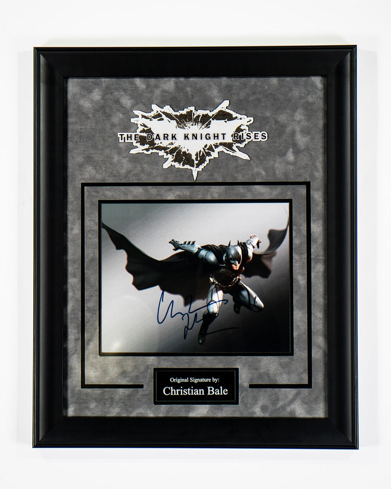 Batman - Signed Christian Bale The Dark Knight Movie Photo - Framed Artist Series
