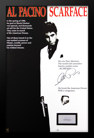 Scarface - Signed Photo in Movie Poster