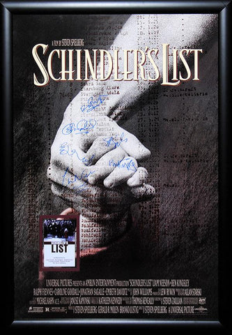 Schindler's List - Signed Movie Poster