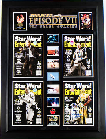 Star Wars The Force Awakens 4 Signed Entertainment Weekly Magazine Covers