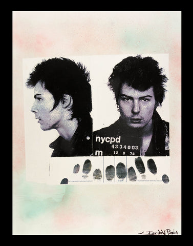 Sid Vicious Mug Shot Poster Print by Fairchild Paris