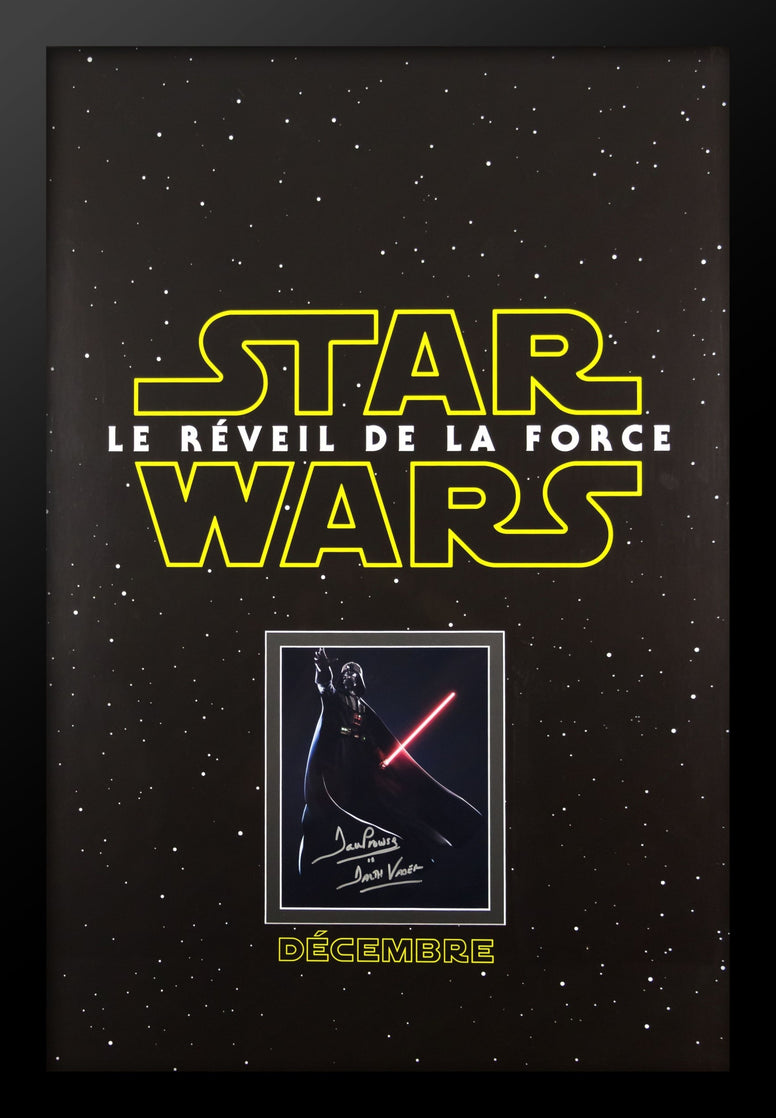 Star Wars Le Réveil De La Force - Signed Photo in Movie Poster