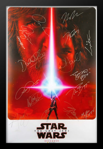 Star Wars: The Last Jedi - Signed Movie Poster