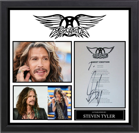 Aerosmith - Signed Music Lyrics in Photo Collage Frame